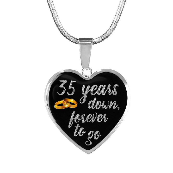35 Year Anniversary Necklace Silver Teerrific