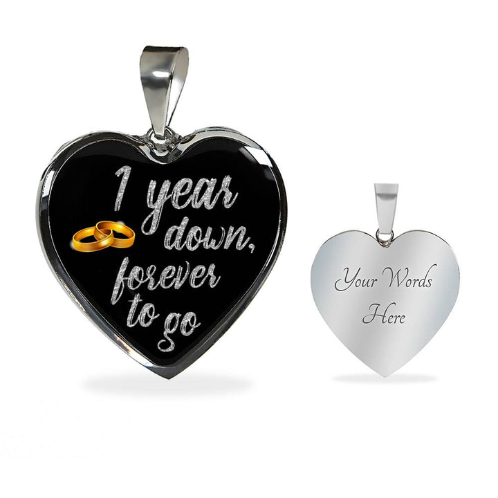 1 Year Anniversary Necklace Silver