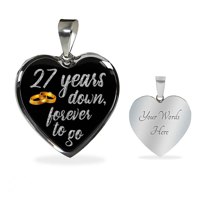 27 Year Anniversary Necklace Silver
