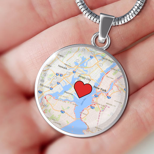 Where We Met Map Pendant - Custom Luxury Necklace
