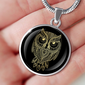 Gold Owl Necklace - Luxury Owl Pendant