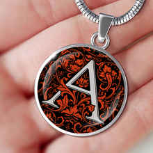 A Letter - Initial Necklace Red