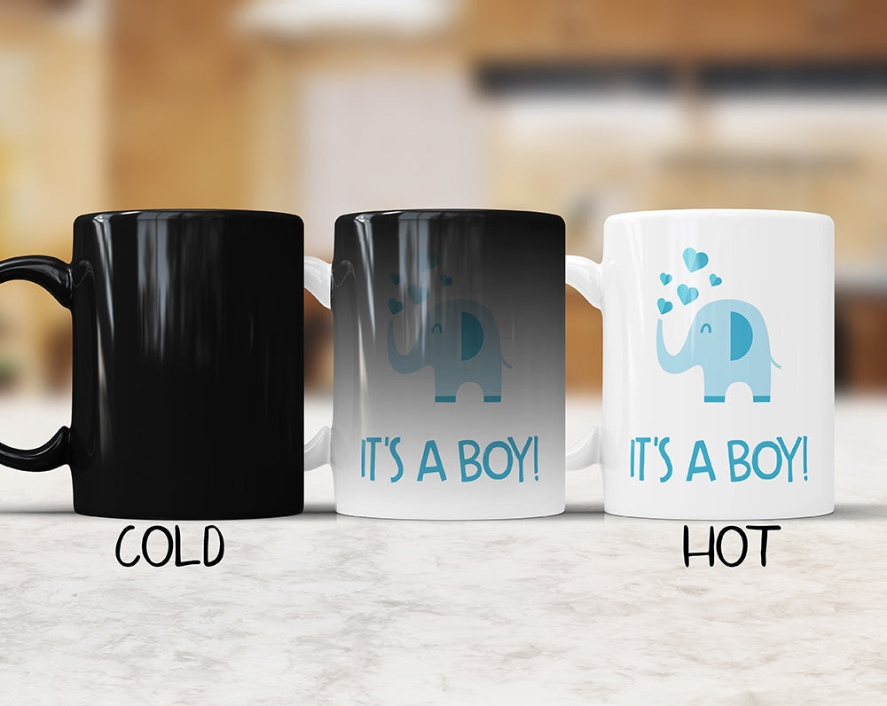 It's A Boy! Color Changing Mug For Baby Gender Reveal Party