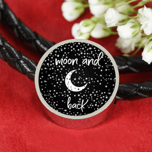 Couple Matching Bracelets - Love You To The Moon And Back