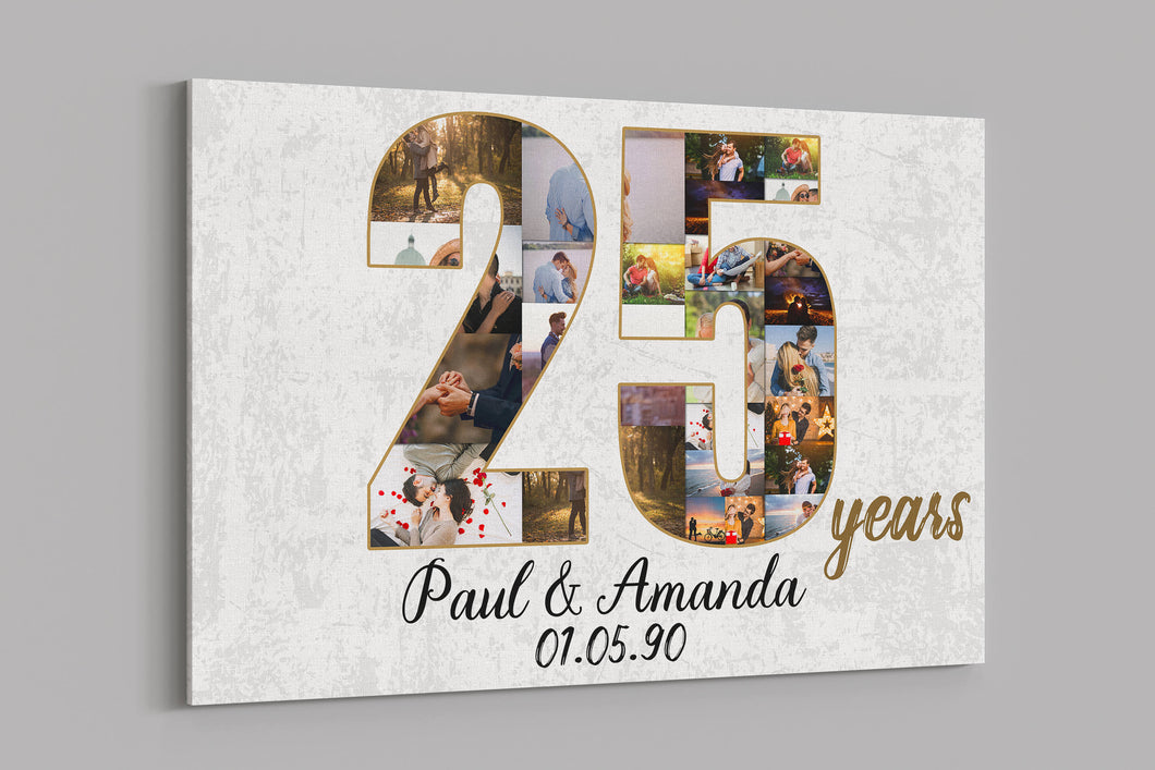 Custom Anniversary Canvas