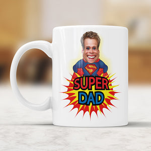 Custom Caricature Super Dad Mug
