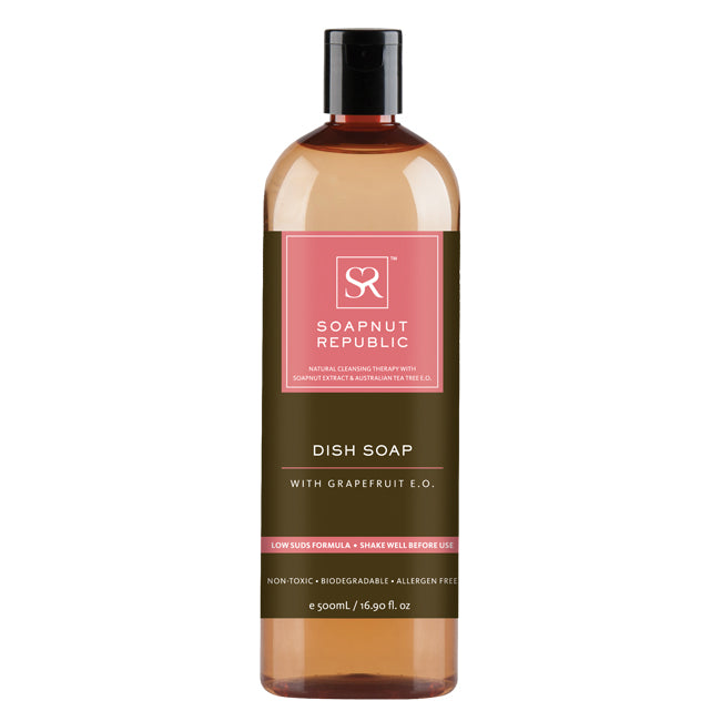 Soapnut Republic Dish Soap - Grapefruit Essential Oil