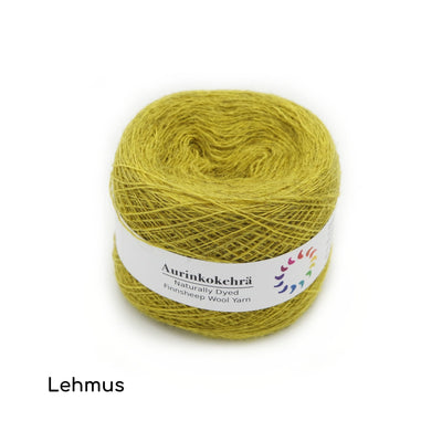 Aurinkokehrä - Plant-dyed Wool Yarn - Lace