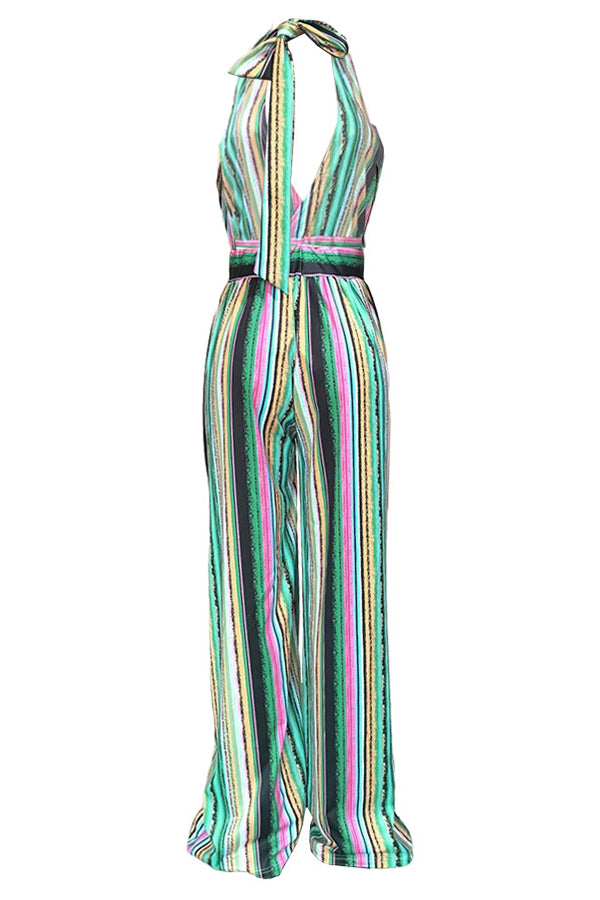 Colorful Loose Helter Neck Rompers