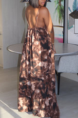Loose Sleeveless Print Jumpsuit