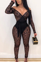 Fashion Sexy Tight Strapless Jumpsuit