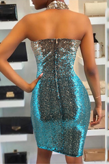 Modishshe Sequined Midi Length Prom Dress