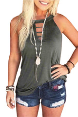 Fashion Round Neck Vest T-shirt Top