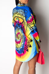 Fashion Print Long Sleeve Shirt