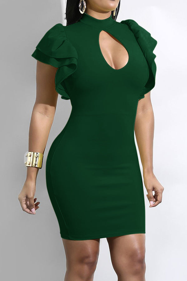 Modishshe Hollow Out Design Bodycon Dresses