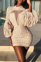 Modishshe Long Sleeved Sexy Party Dress