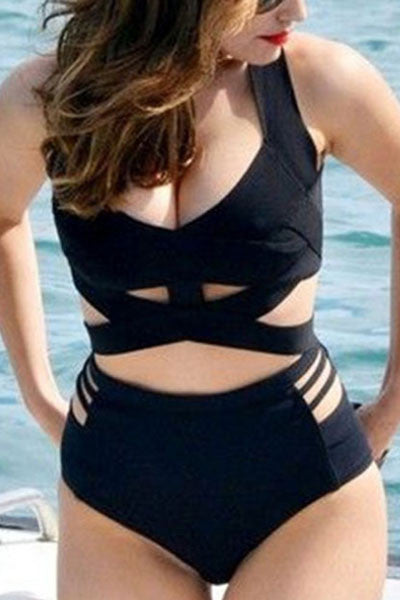 09ccd793cff Modishshe Plus Size Two-piece Swimsuit - Up to 3XL
