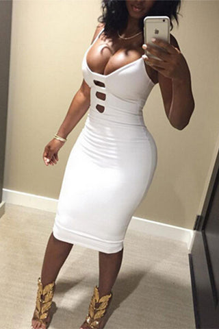Modishshe Sexy Strappy Midi Party Dress