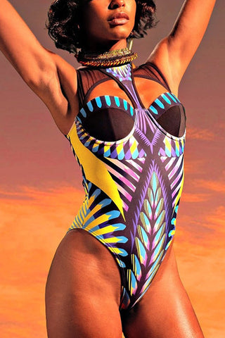 Modishshe Print One-piece Swimwear