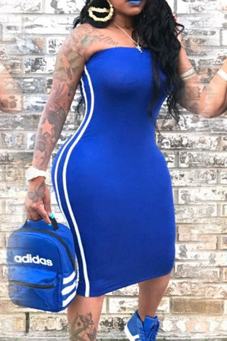 Modishshe Bodycon Tube Midi Dress