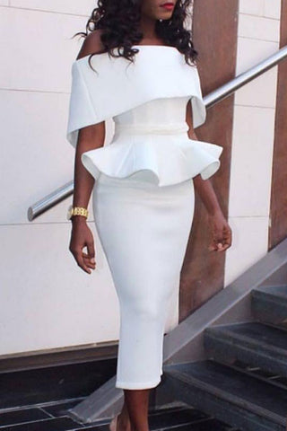 Modishshe Off-shoulder Bodycon Dress