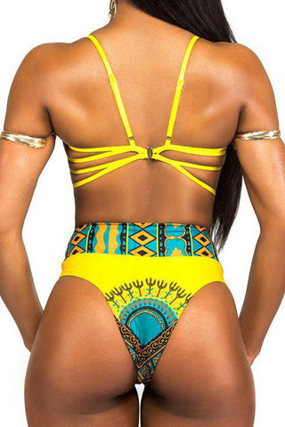 Modishshe High Waist Two-piece Swimsuit