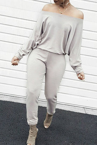 Modishshe Off The Shoulder Long Bats Sleeves Jumpsuits