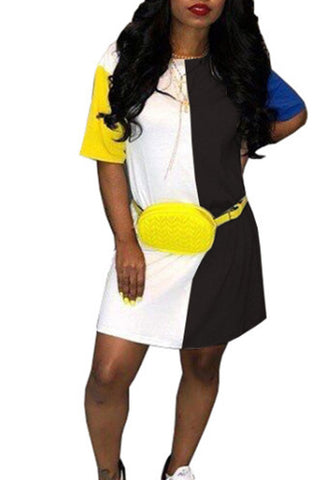 Modishshe Color Blocking Mini Dress
