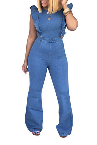 Modishshe Fashion Sexy Denim Jumpsuit