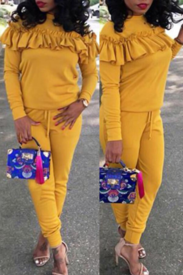 Modishshe Pleated Design Casual Two-piece Outfit