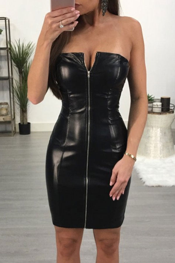 Modishshe Sexy Off-shoulder Skinny Short Dress
