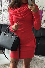 Modishshe With Hat Hoodie Bodycon Mini Dress