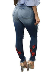 Modishshe Stylish Hollow Out Skinny Jeans
