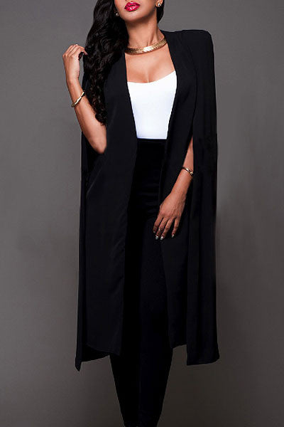 Modishshe Stylish Cloak Design Long Cape Coat