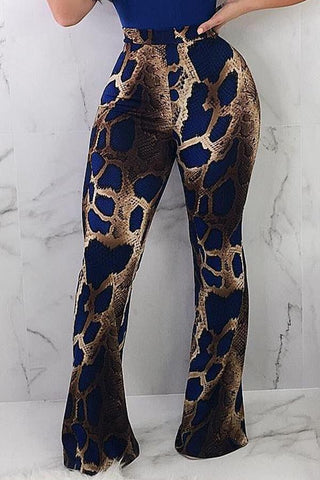 Modishshe Printed Grain Blue Pants