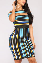 Fashion Sexy Stripe Print Dress