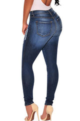 Modishshe Stylish Knee Ripped Skinny Bodycon Jeans