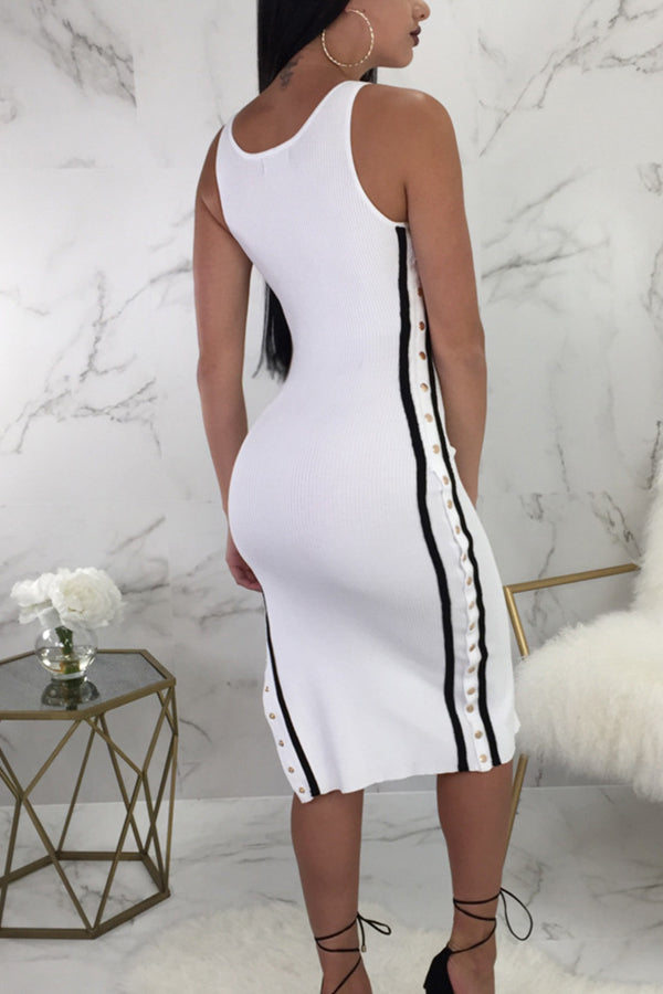 Modishshe Sleeveless Bodycon Midi Dress