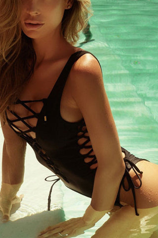 Modishshe Sexy Lace-up One Piece Swimsuit
