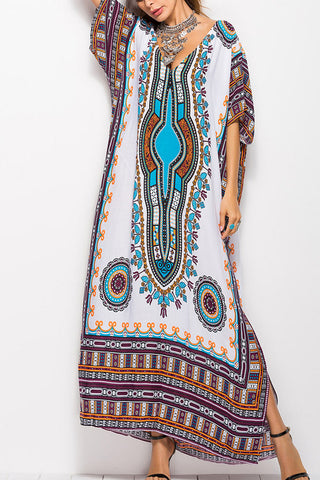 Modishshe Printed Loose Fitting Maxi Dress
