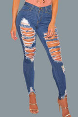 Modishshe Stylish Ripped Skinny Jeans