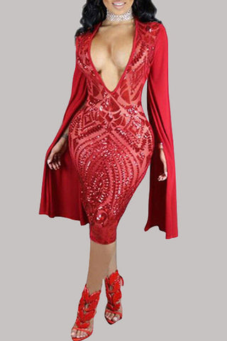 Modishshe Stylish Women Sequined Party Dress