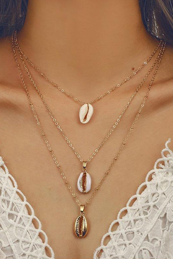 Modishshe Bohemian Multi-layer Hollow-Out Alloy Necklace