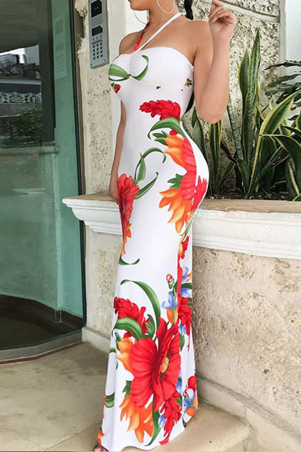 Modishshe Flower Printed Maxi Dress