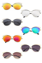 Modishshe Fashion Framed Cat-Eye Sun Glasses