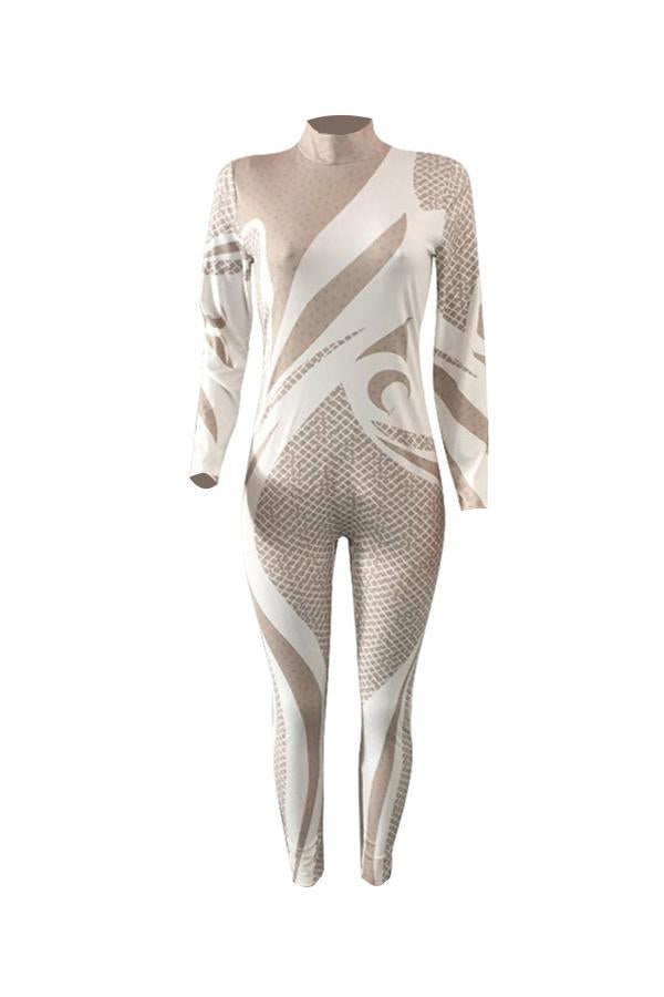 Modishshe Printing Long Sleeves Jumpsuit