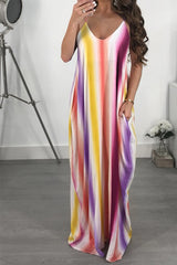 Modishshe Plus Size V neck Sexy Maxi Dress