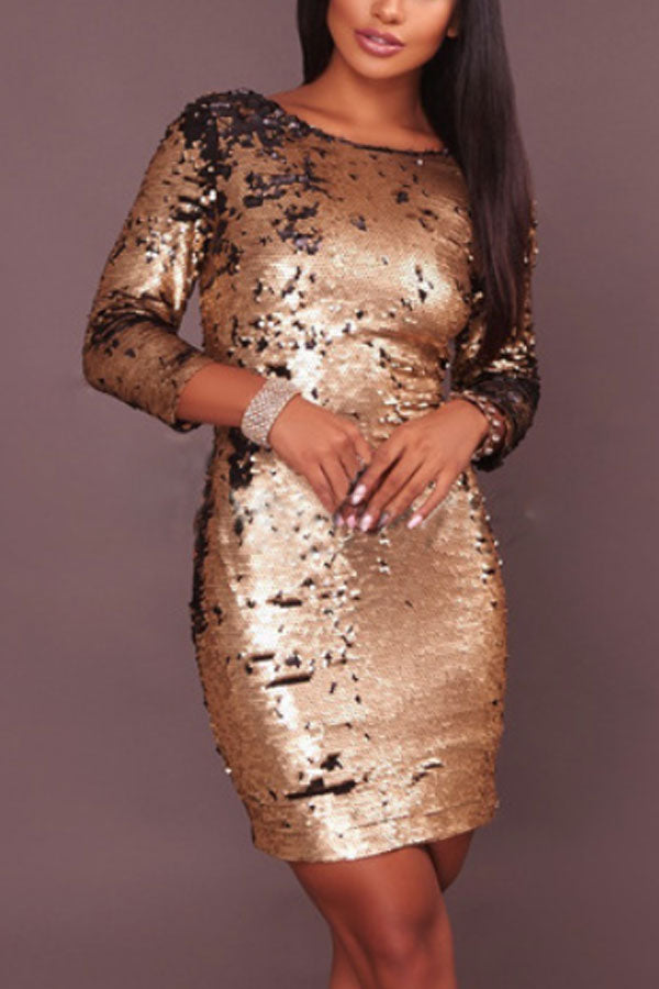 Modishshe Sequined Bodycon Party Dress