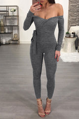 Modishshe Long Sleeves Skinny Jumpsuit