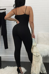 Modishshe Deep V Neck Jumpsuits